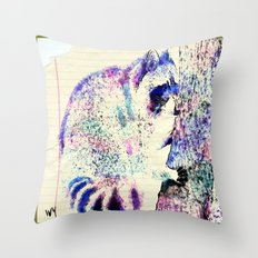 Midnight paint  Throw Pillow