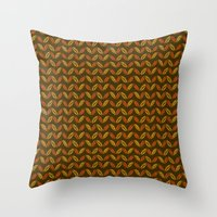 Colors of Autumn Pattern Throw Pillow