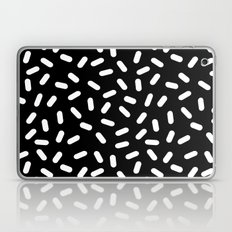 Bingo - black and white sprinkle retro modern pattern print monochromatic trendy hipster 80s style Laptop & iPad Skin