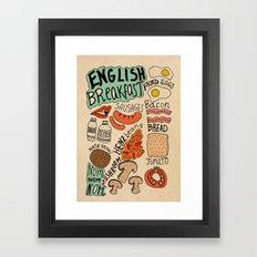 English Breakfast Framed Art Print