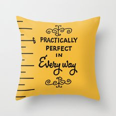 Practically Perfect In E… Throw Pillow