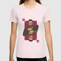 Walter white King of spades Womens Fitted Tee Light Pink SMALL