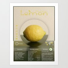 Vegalise - Lemon Art Print