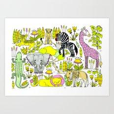 African Animals Art Print