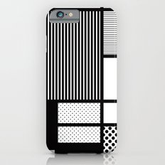 Composition With Black, Dots, Stripes & Black iPhone 6s Slim Case