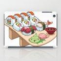 Kawaii California Roll and Sushi Shrimp and Tuna Nigiri iPad Case
