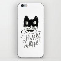 Schwarzfahren!! iPhone & iPod Skin