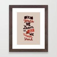 Youth & Age Framed Art Print
