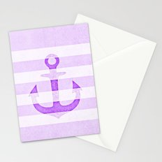 Vintage Anchor Purple Stationery Cards