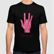Unfuck You. Gesture Black SMALL Mens Fitted Tee