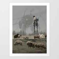 1920 - shepherd Art Print