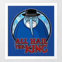 The King Of Ice Art Print