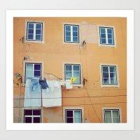 Windows Of Alfama, Lisbo… Art Print