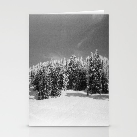 snow-capped Stationery Card