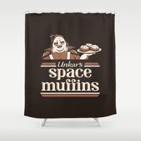 Space Muffins Shower Curtain
