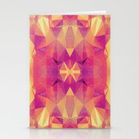 RETRO PINK GEOMETRY Stationery Cards