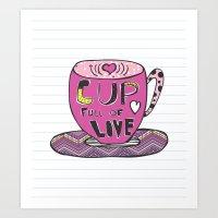 Cup Full Of Love Art Print