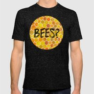 BEES? Mens Fitted Tee Tri-Black SMALL
