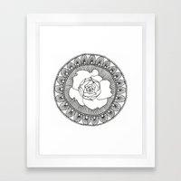 Rose Mandala Framed Art Print
