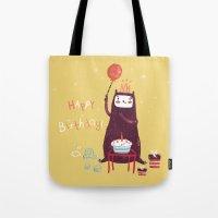 Happy Birthday Purple Mo… Tote Bag