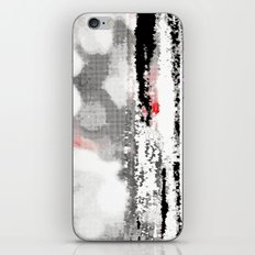 Abstract Seascape - Black, White, Red iPhone & iPod Skin