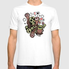 COSMIC LOVE ZONE SMALL White Mens Fitted Tee