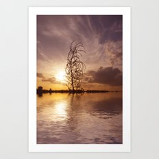 Digital sunsets  Art Print