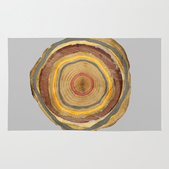 Tree Rings Area & Throw Rug