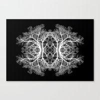 The Giving Tree - Black Canvas Print