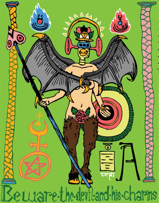 Beware the Devil and his Charms. Art Print