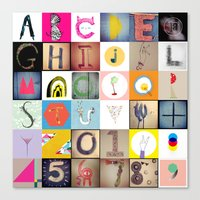 #36daysoftype Handmade Alphabet Canvas Print