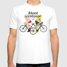 Mont Ventoux Mens Fitted Tee White SMALL