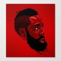 James Harden: Redbeard Edition Canvas Print