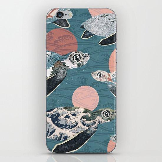 Sea Turtle Polka iPhone & iPod Skin