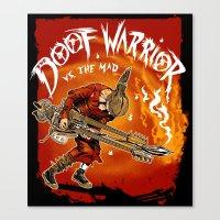 The Doof Warrior vs The Mad Canvas Print
