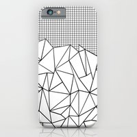 Abstract Outline Grid Black on White iPhone 6 Slim Case