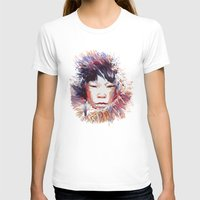 MONGOLIA Womens Fitted Tee White SMALL