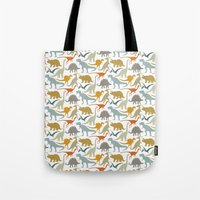 Dinosaur Friends Tote Bag