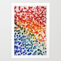 Splatter Paint Art Print