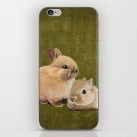 Portrait Of Two Small Bu… iPhone & iPod Skin