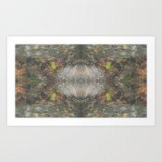 Natural Mosaic Collage 3 Art Print