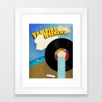 Vampire Weekend - Chicago Framed Art Print