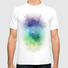sky the way White SMALL Mens Fitted Tee