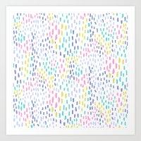 Rain in colors Art Print