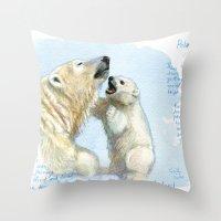 Polar bears A0086 Throw Pillow
