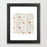 Flower Pattern 01 Framed Art Print