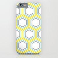 Yellow And Aqua Honeycom… iPhone 6 Slim Case