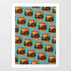 Double Cheeseburger 2 Pattern Art Print