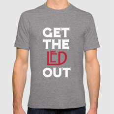 Get the Led Out Mens Fitted Tee Tri-Grey SMALL