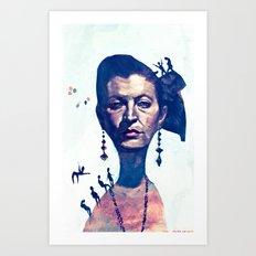 Lady Horizon Art Print